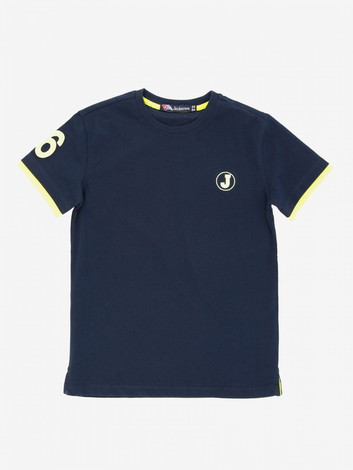 Jeckerson t-shirt with logo blue 1