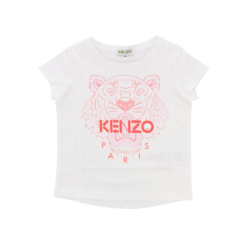 T-shirt kids Kenzo Junior white 1