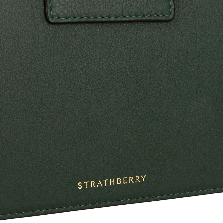 Bolso de hombro mujer Strathberry verde 4