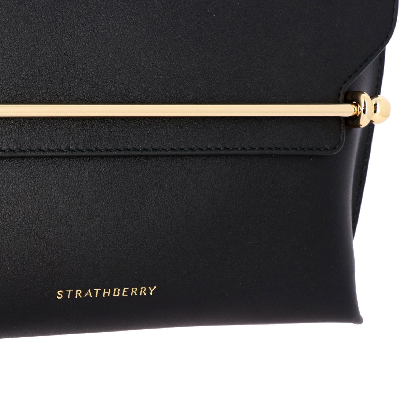 Bolso de hombro mujer Strathberry negro 4