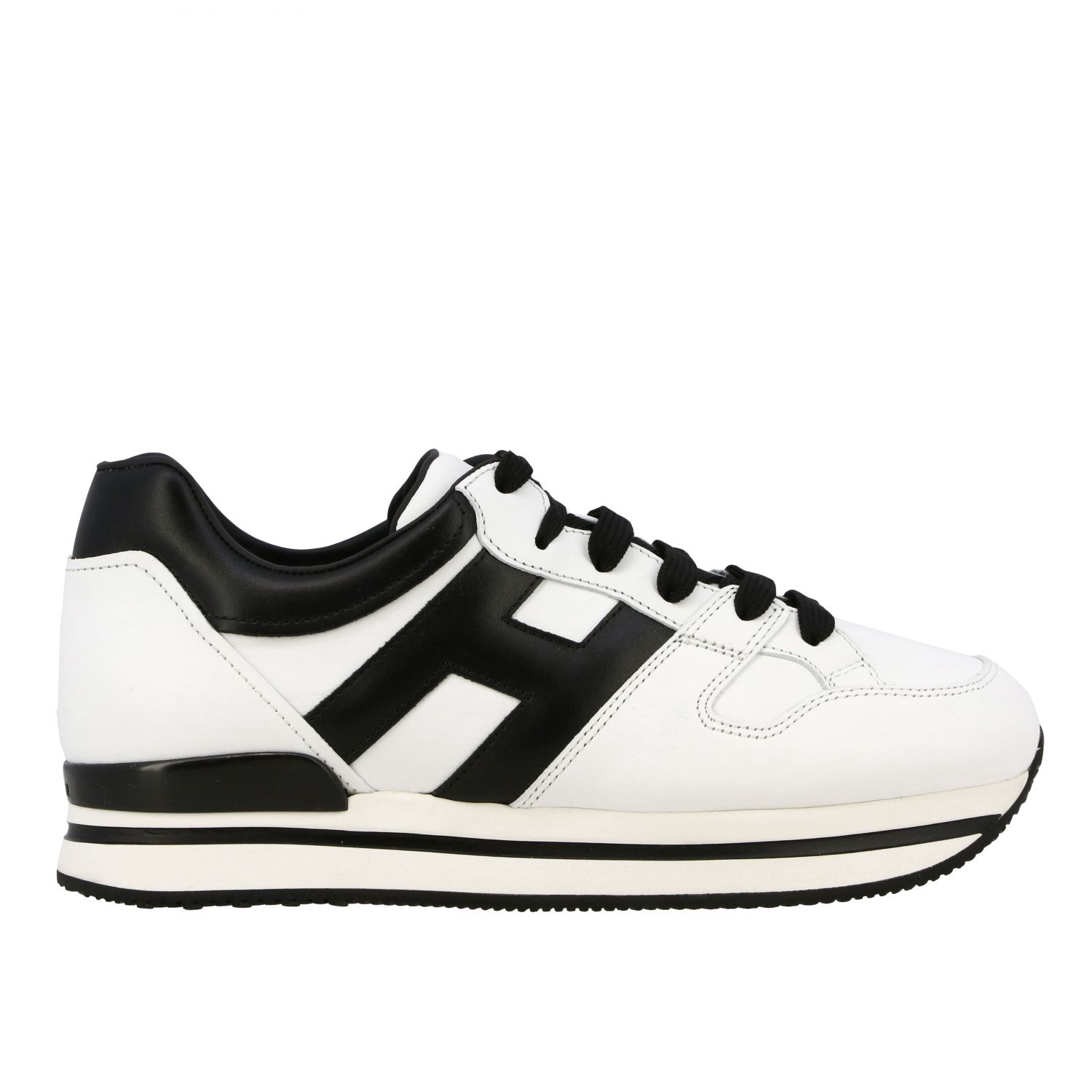 Sneakers 222 Hogan in pelle con big H bianco 1