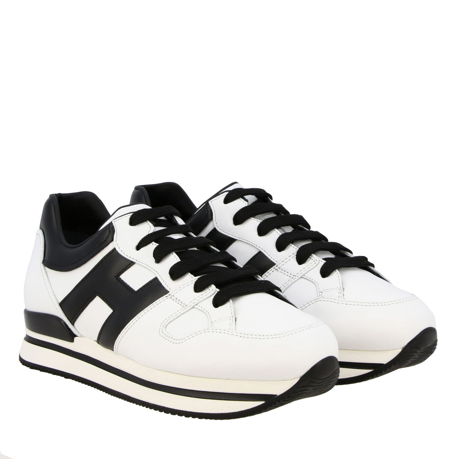Sneakers 222 Hogan in pelle con big H bianco 2