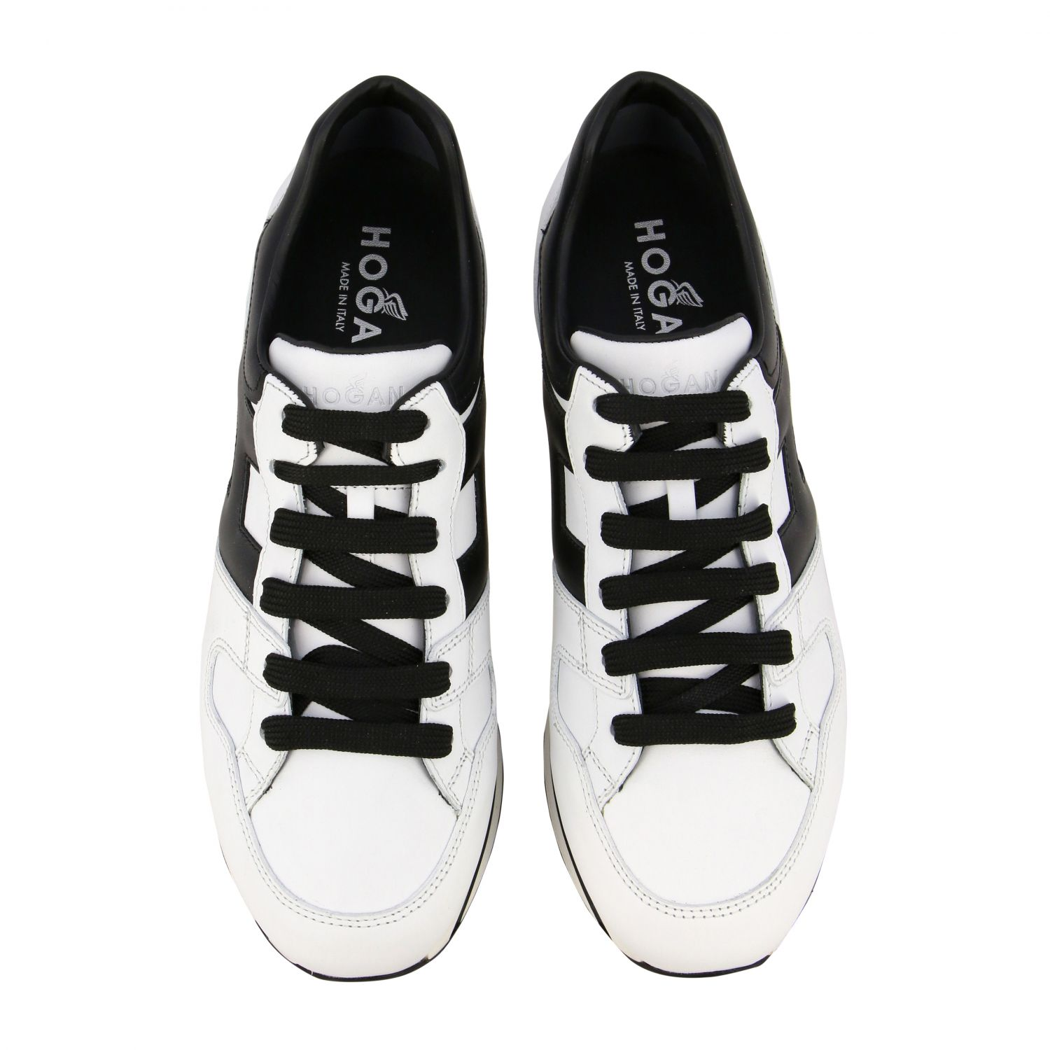Sneakers 222 Hogan in pelle con big H bianco 3