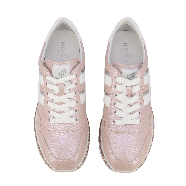 Hogan 真皮厚底468运动鞋 粉色 3