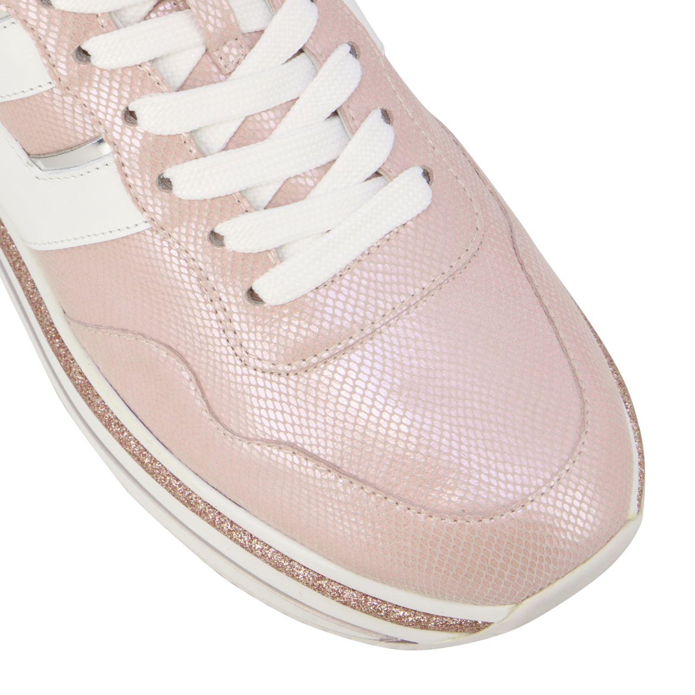 Hogan 真皮厚底468运动鞋 粉色 4