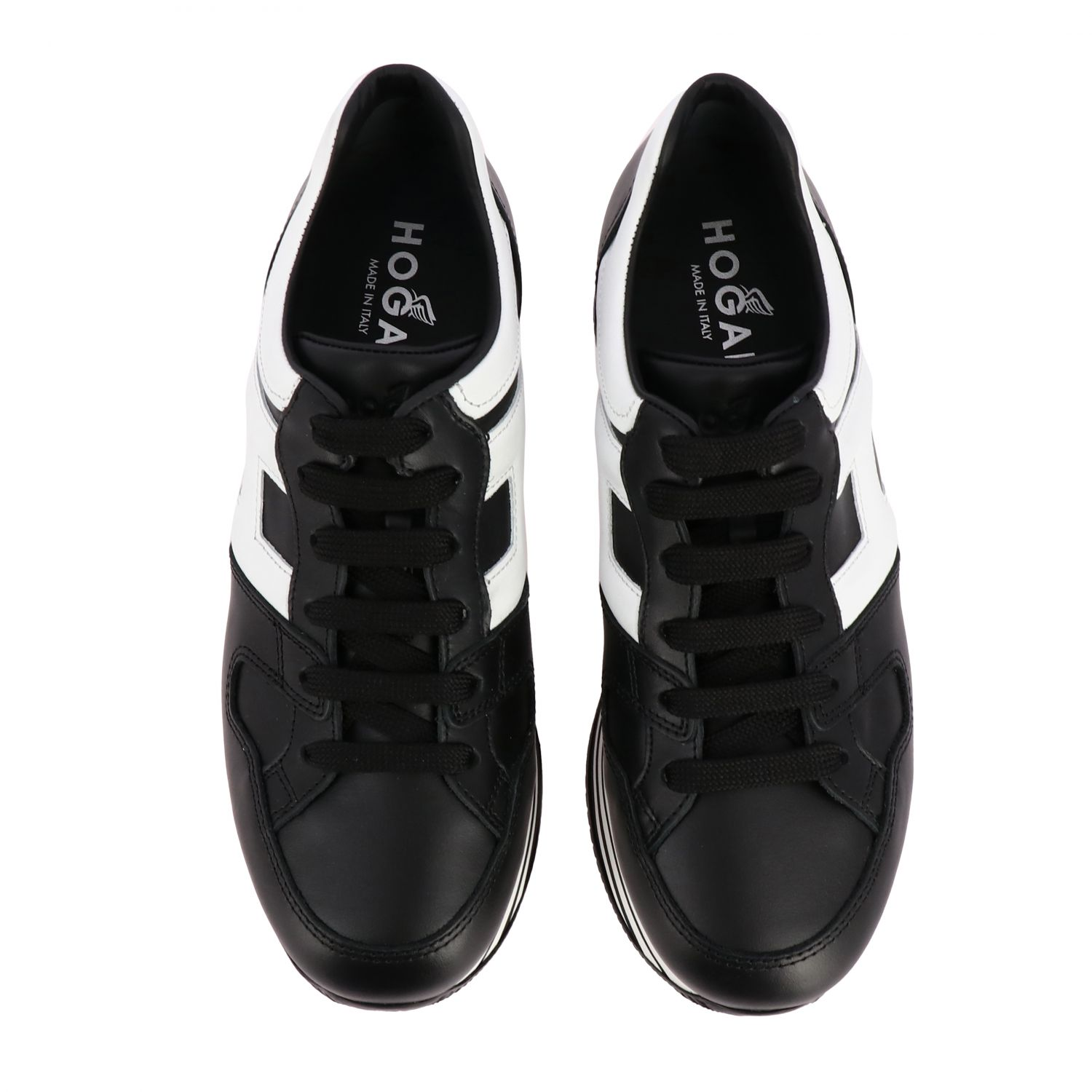 Hogan 283 leather sneakers with big H and maxi 222 platform sole