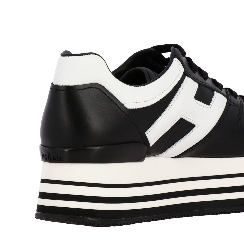 Sneakers 283 Hogan in pelle con big H e maxi suola 222 platform nero 5