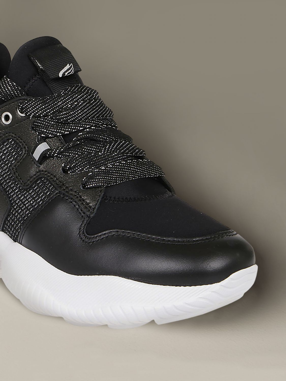 Interactive Hogan sneakers in leather and neoprene black 3