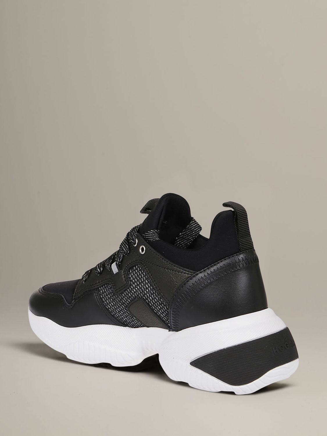 Interactive Hogan sneakers in leather and neoprene black 4