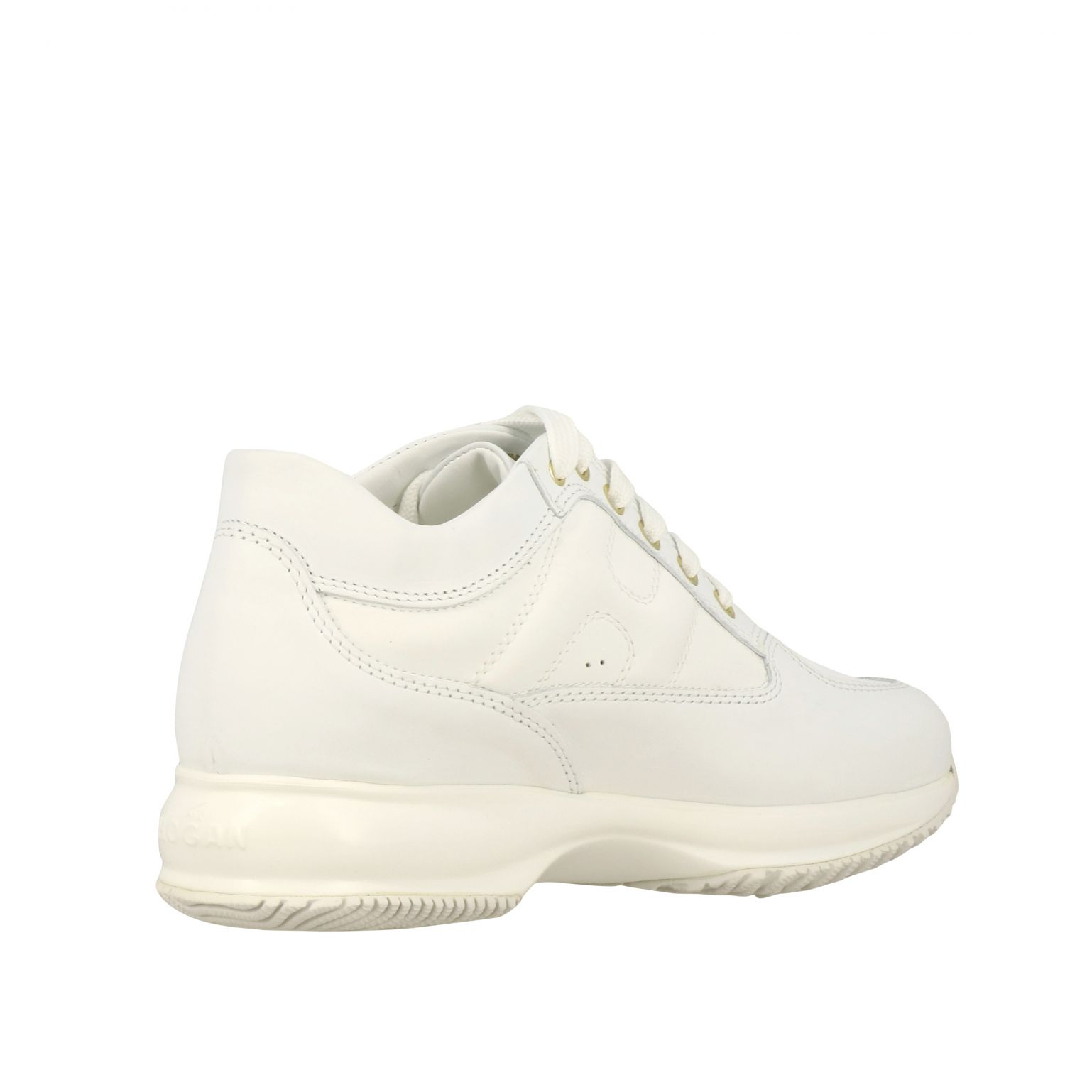 Interactive Hogan leather sneakers with rounded H white 5