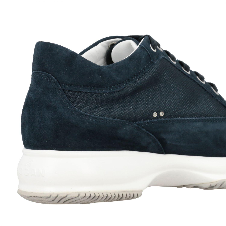 Sneakers Interactive Hogan in camoscio e tela con H di strass blue 5