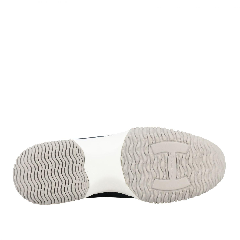 Sneakers Interactive Hogan in camoscio e tela con H di strass blue 6