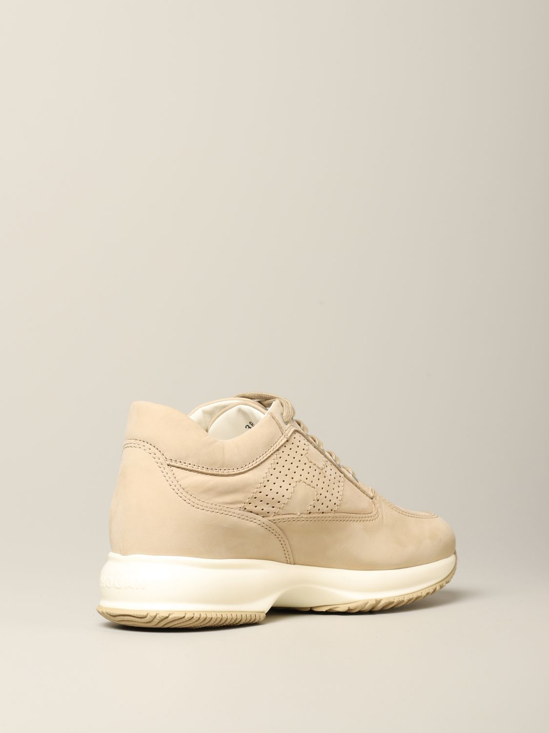 HOGAN: Interactive sneakers in nubuck with perforated H | Sneakers ...