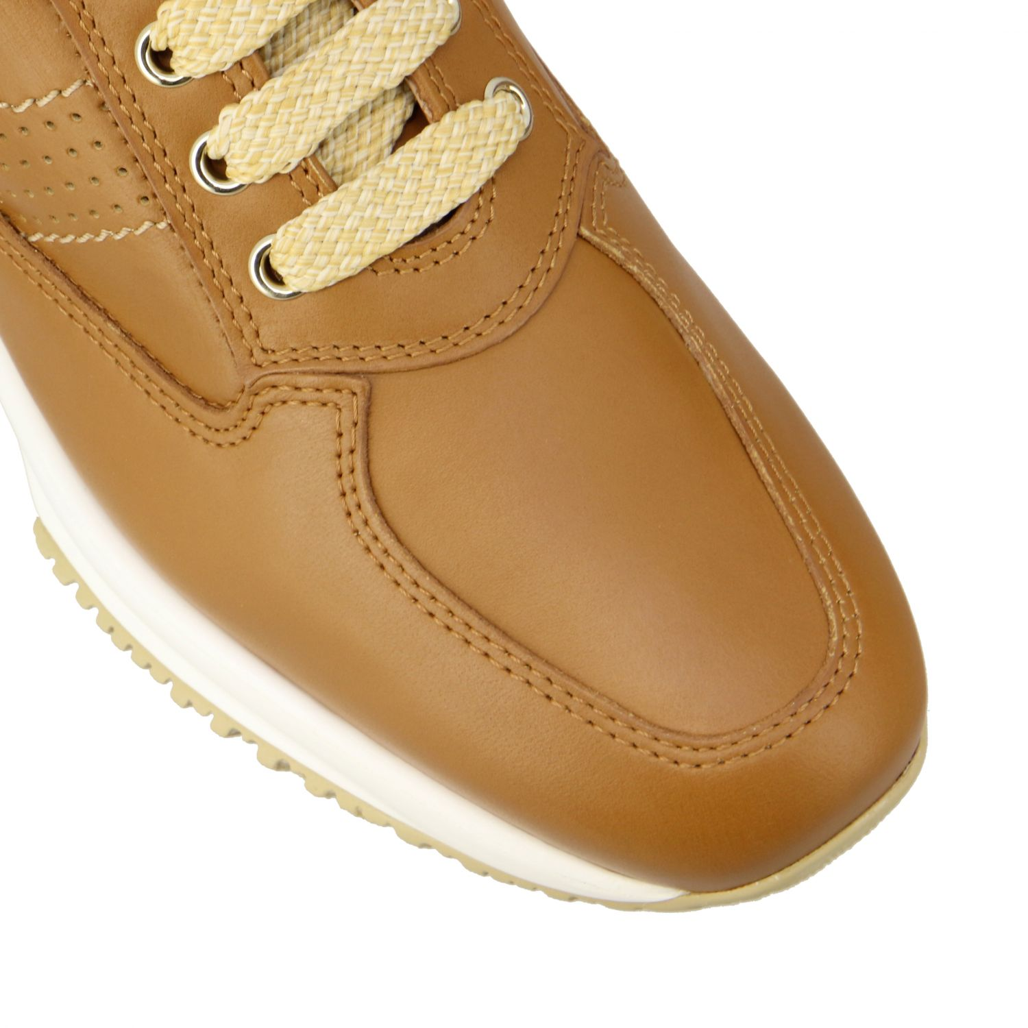 Interactive Hogan leather sneakers with perforated H leather 4