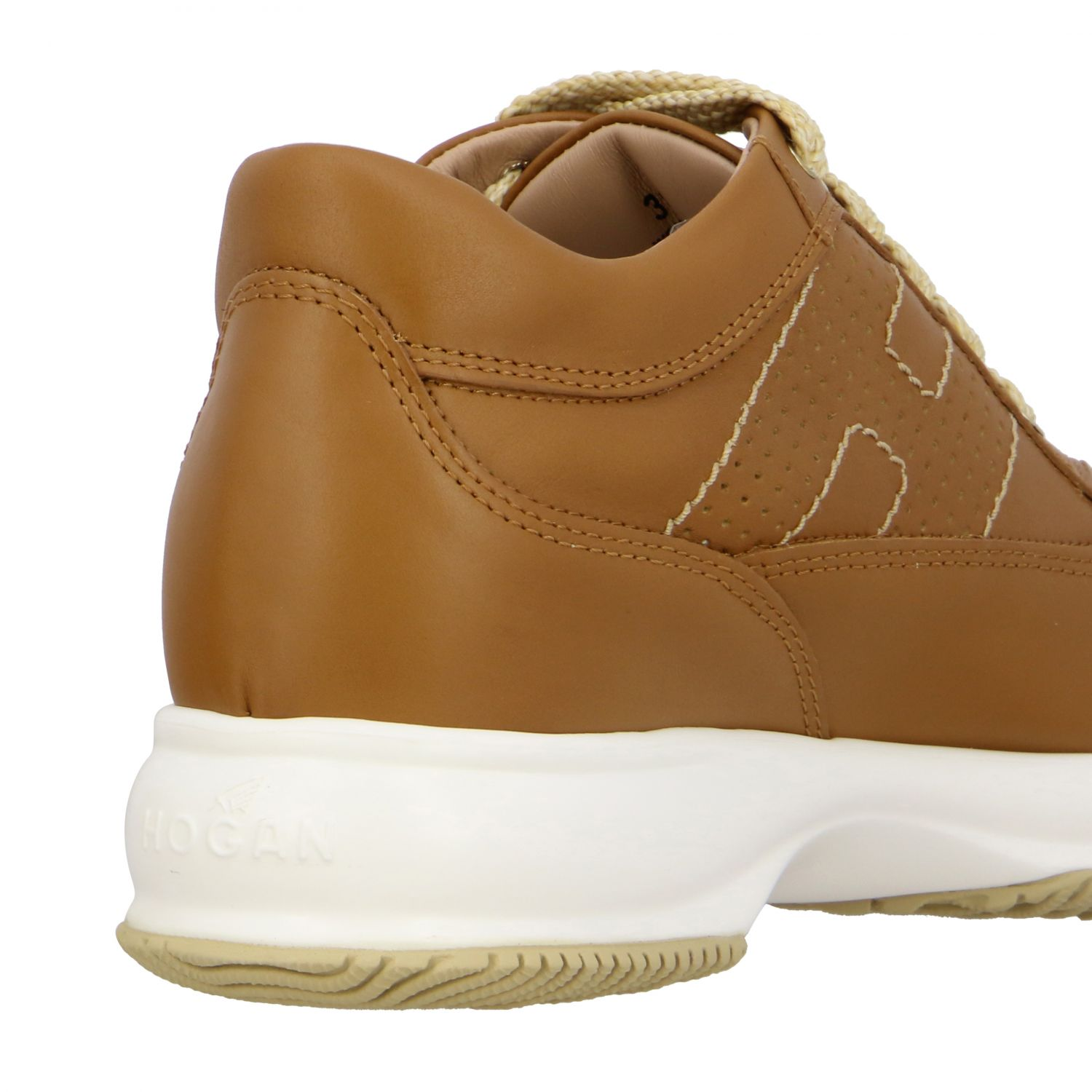 Interactive Hogan leather sneakers with perforated H leather 5