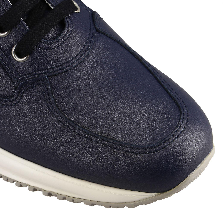 Sneakers Interactive Hogan in pelle con H di paillettes blue 4