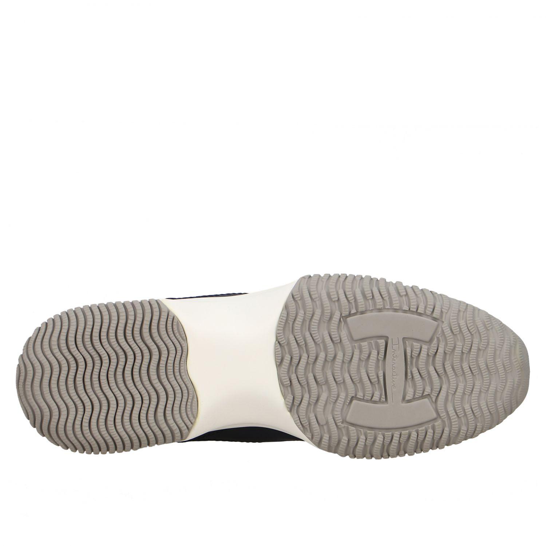 Sneakers Interactive Hogan in pelle con H di paillettes blue 6