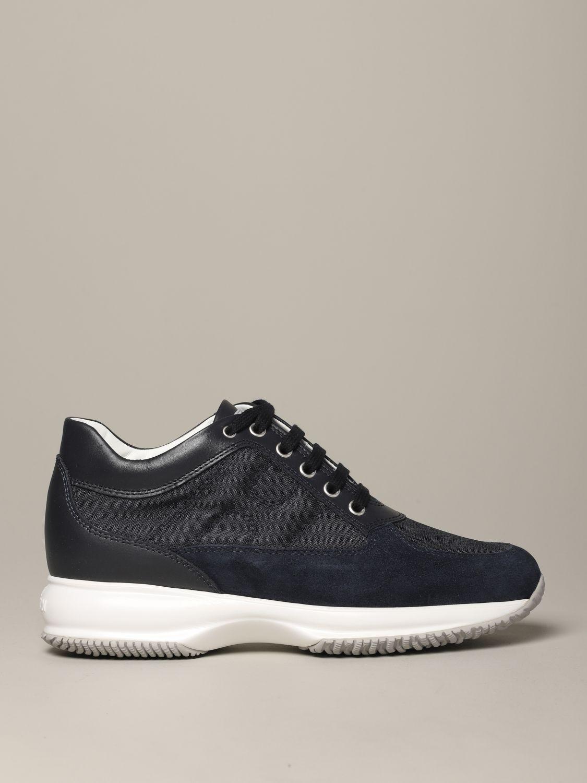 Hogan Interactive 绒面革帆布运动鞋 蓝色 1