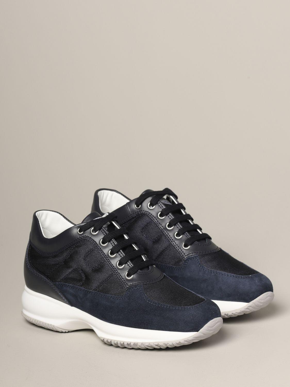 Hogan Interactive 绒面革帆布运动鞋 蓝色 2