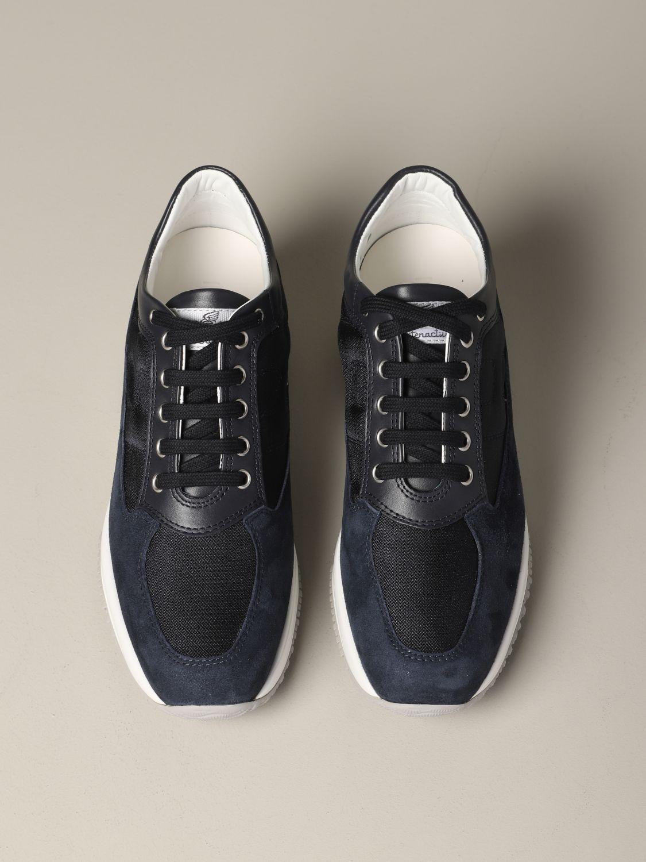 Hogan Interactive 绒面革帆布运动鞋 蓝色 3