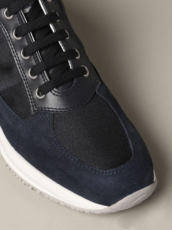 Hogan Interactive 绒面革帆布运动鞋 蓝色 4