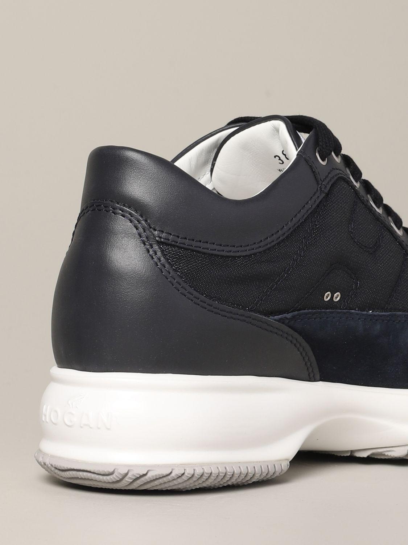 Hogan Interactive 绒面革帆布运动鞋 蓝色 5