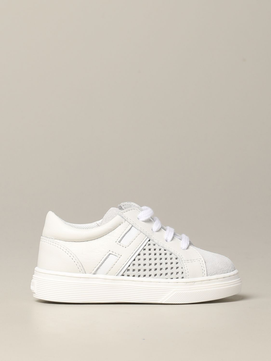 Hogan Baby sneakers in suede and perforated leather