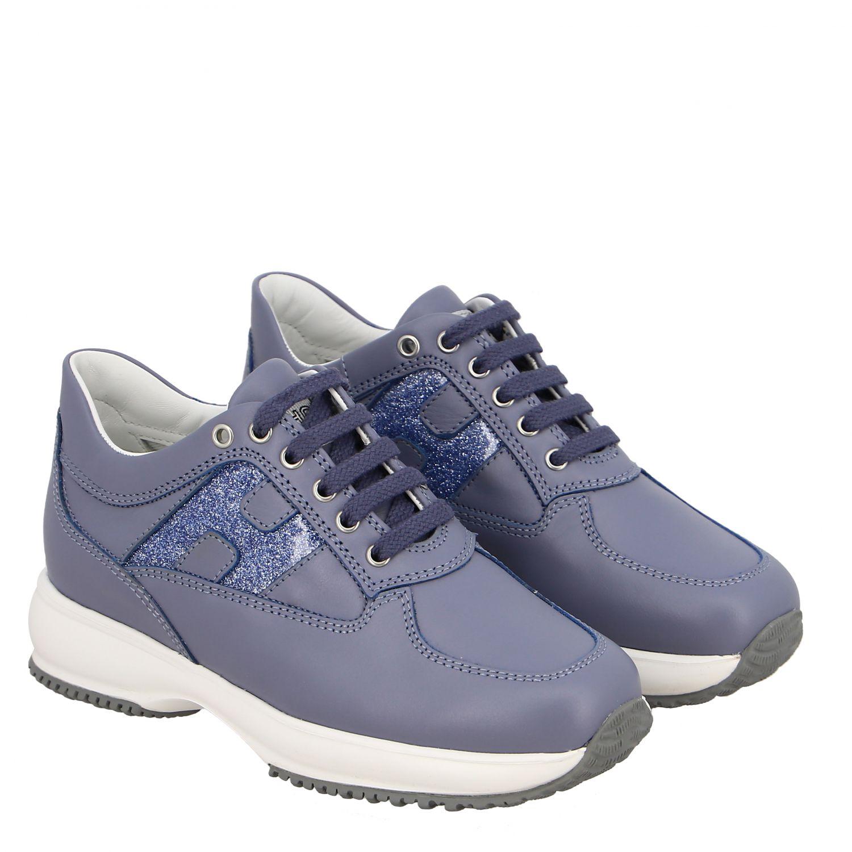 Shoes kids Hogan gnawed blue 2