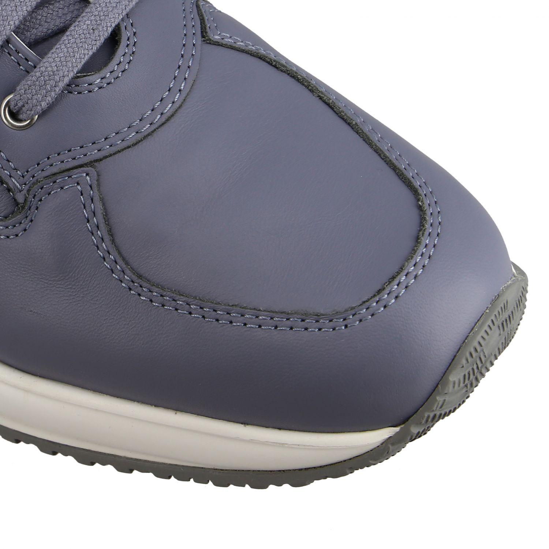 Hogan Interactive 亮片填充H装饰真皮运动鞋 浅蓝色 4