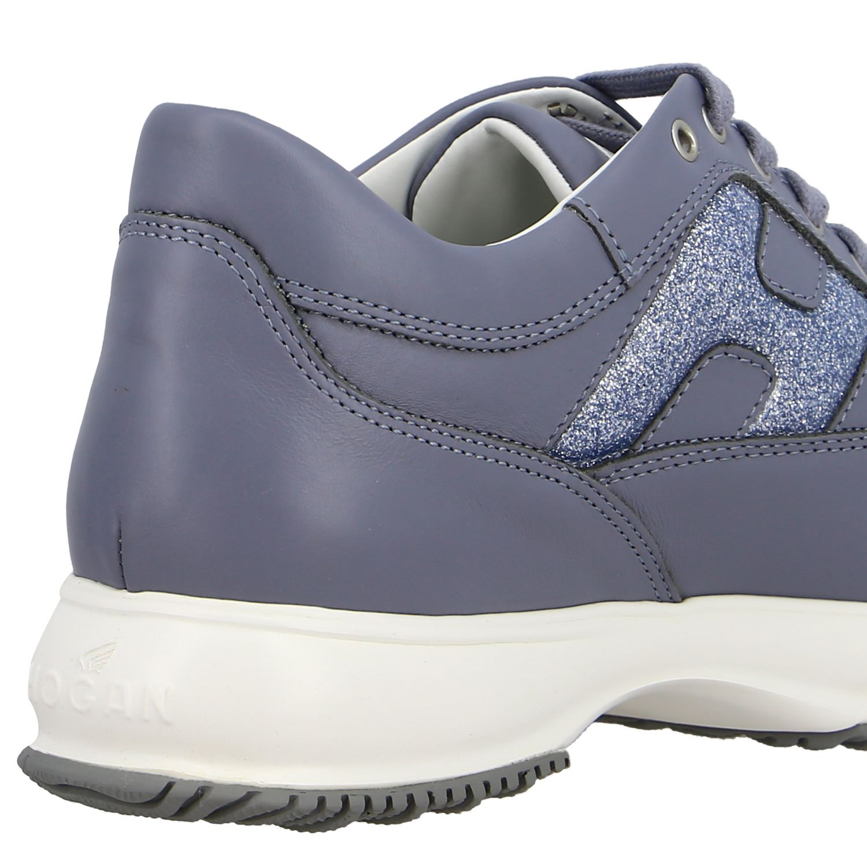 Hogan Interactive 亮片填充H装饰真皮运动鞋 浅蓝色 5