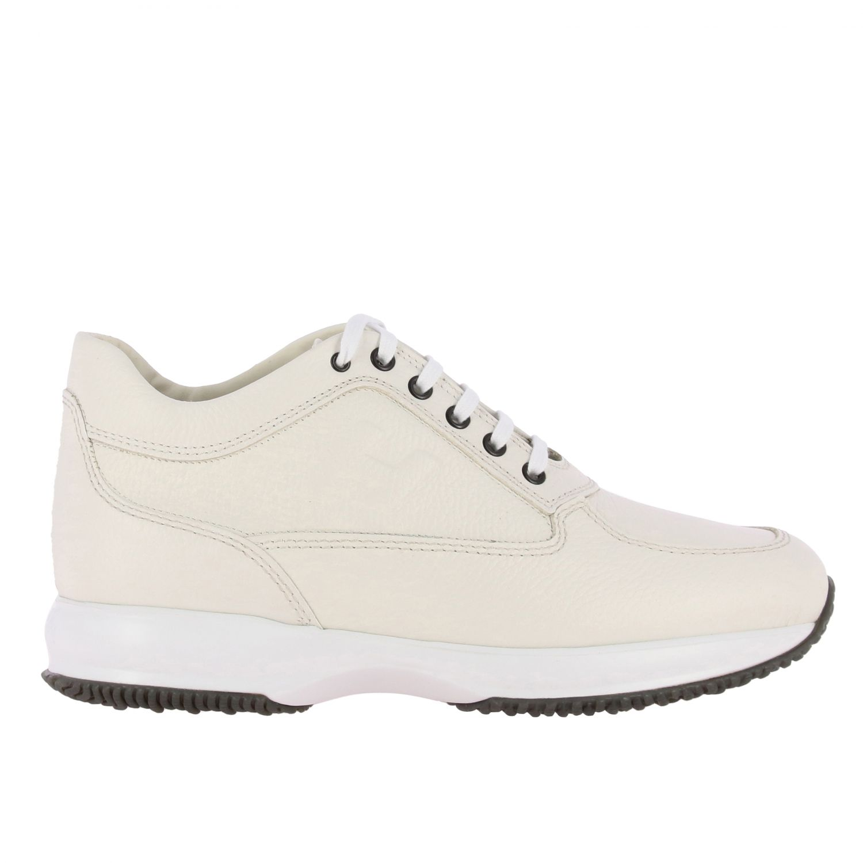 Sneakers Interactive Hogan in pelle con H impressa bianco 1