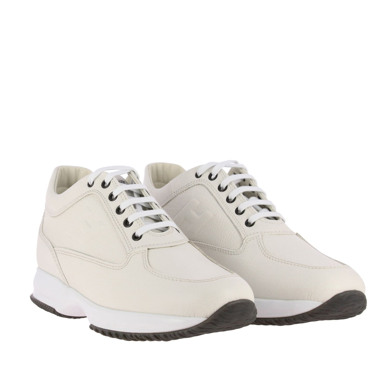 Sneakers Interactive Hogan in pelle con H impressa bianco 2