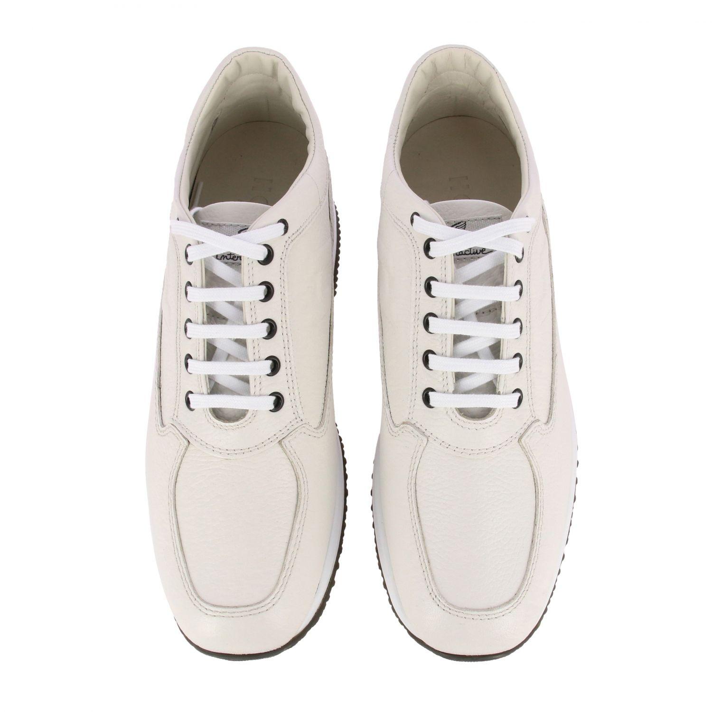 Sneakers Interactive Hogan in pelle con H impressa bianco 3