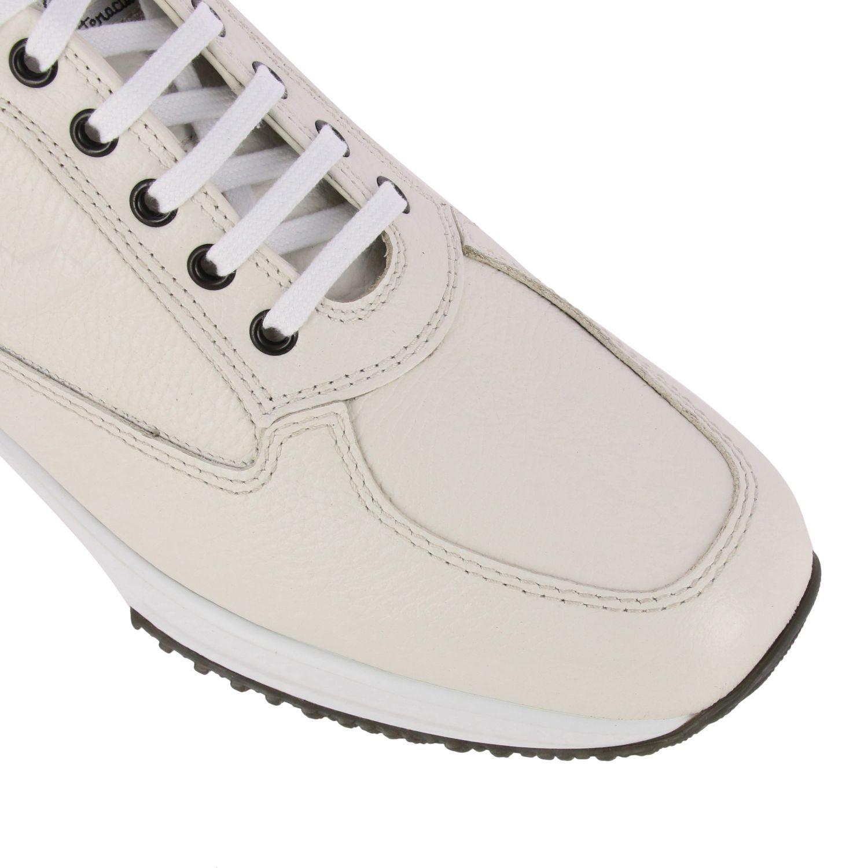Sneakers Interactive Hogan in pelle con H impressa bianco 4