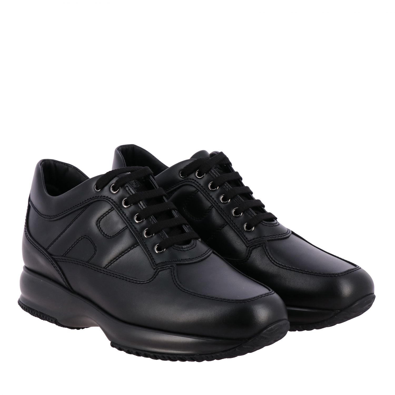 Sneakers Interactive Hogan in pelle con H bombata nero 2
