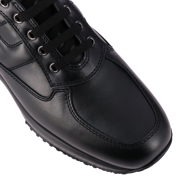 Sneakers Interactive Hogan in pelle con H bombata nero 4