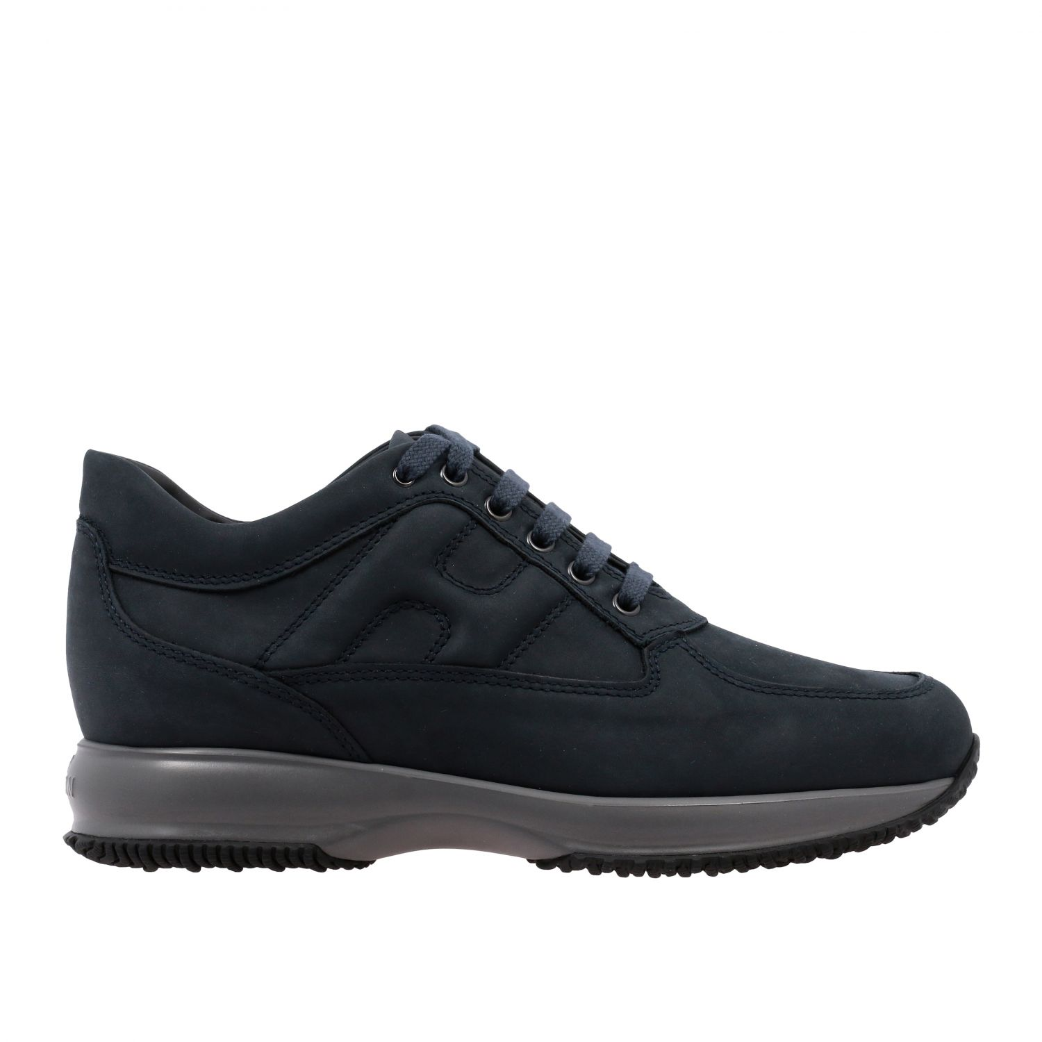 Sneakers Interactive Hogan in nabuk con H bombata blue 1