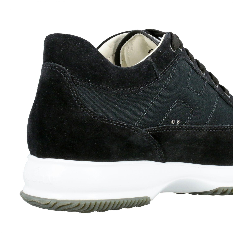 Sneakers Interactive Hogan in camoscio e rete con H bombata nero 5