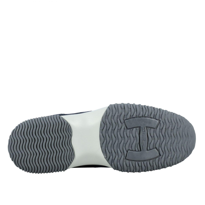 Sneakers Interactive Hogan in camoscio e rete con H bombata denim 6
