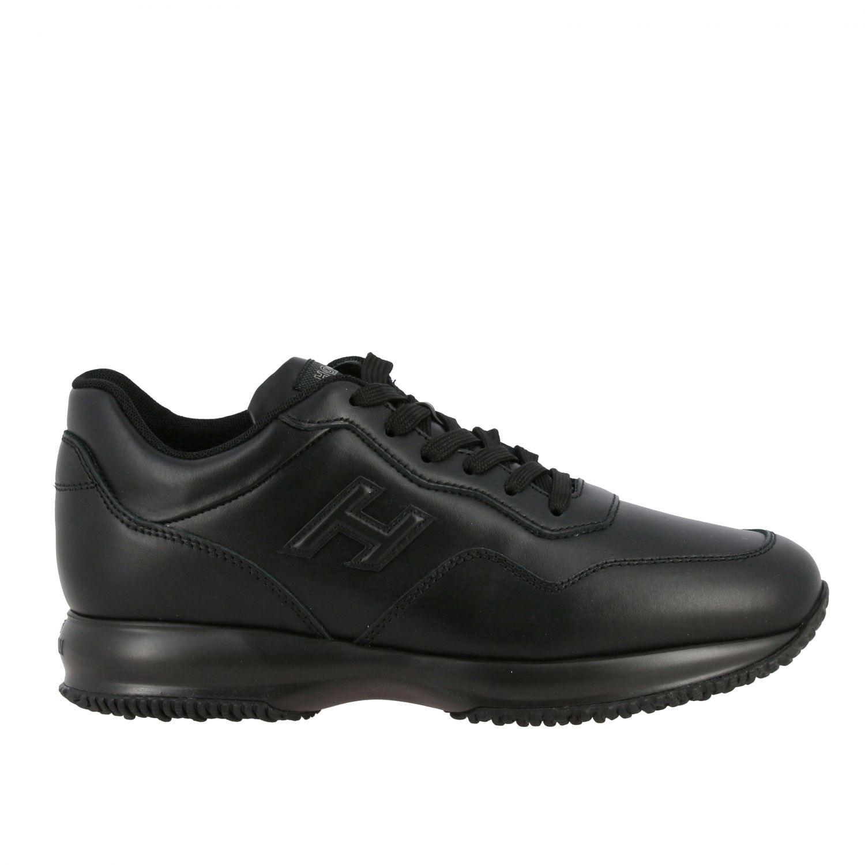 Sneakers Interactive Hogan in pelle con H in 3D nero 1