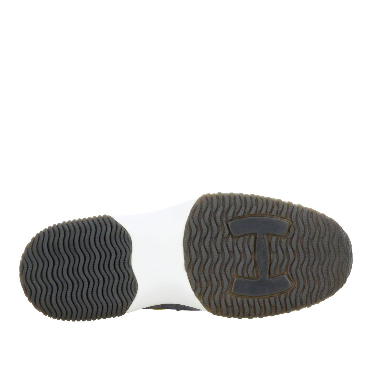 Sneakers New interactive Hogan in camoscio e rete con h flock grigio 1 7