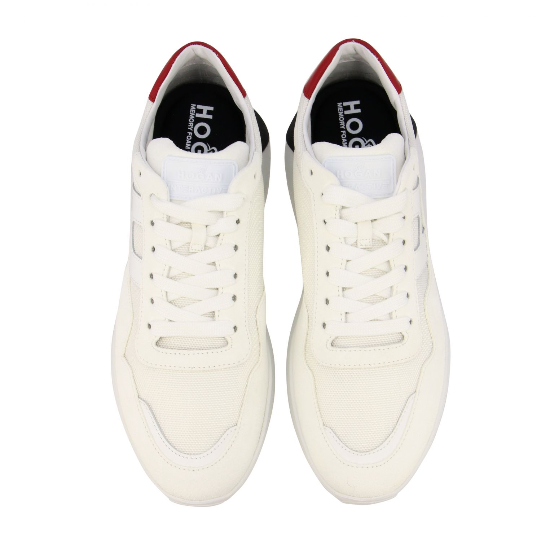 Sneakers Interactive3 Hogan in camoscio e tela con H bianco 3