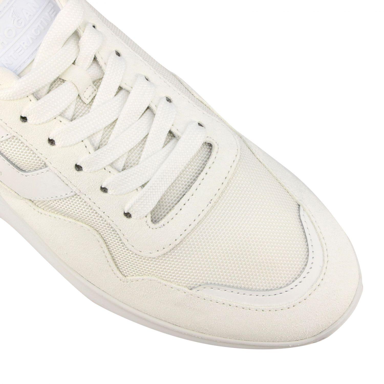 Sneakers Interactive3 Hogan in camoscio e tela con H bianco 4