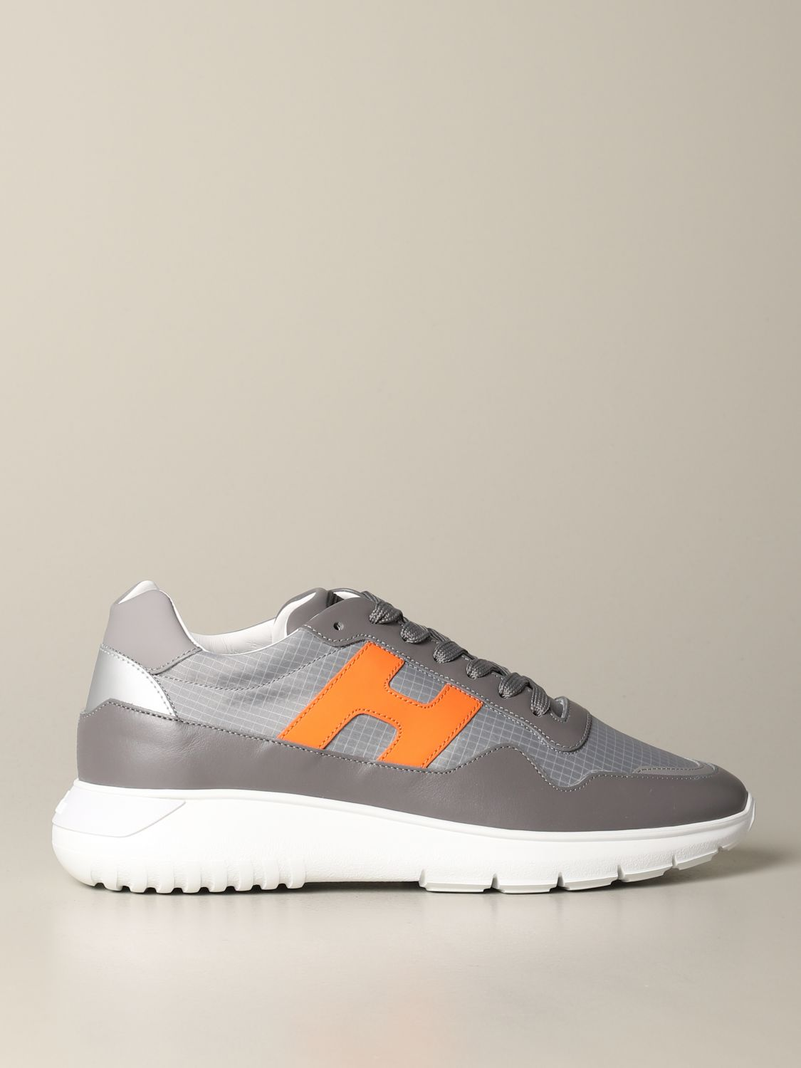 Interactive 3 Hogan sneakers in leather and ripstop canvas