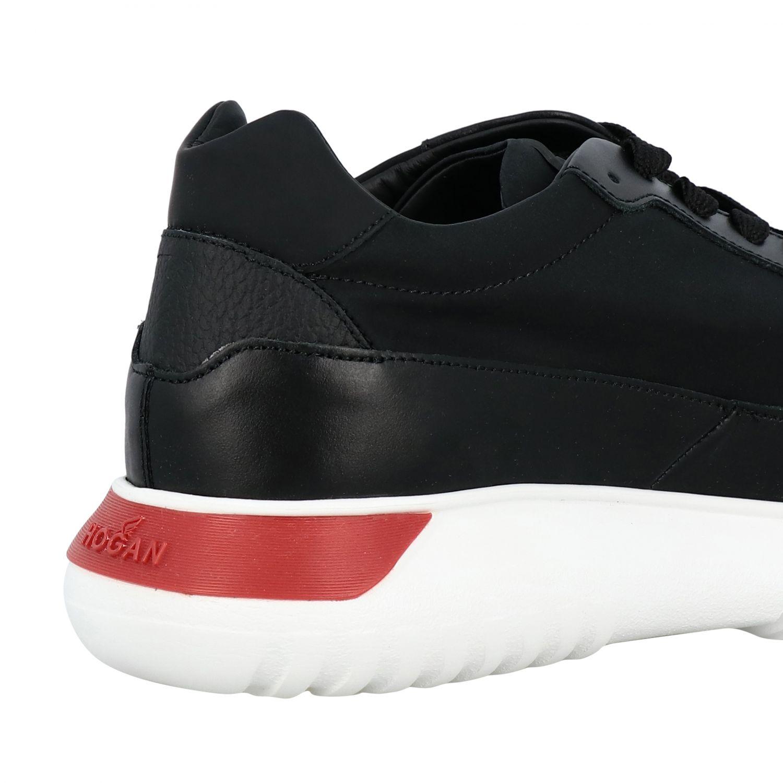 Sneakers Interactive3 Hogan in pelle e tela con H nero 4