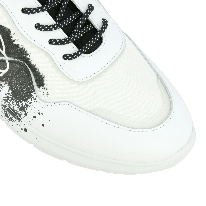 Interactive 3 pelle e nylon con maxi logo bianco 4