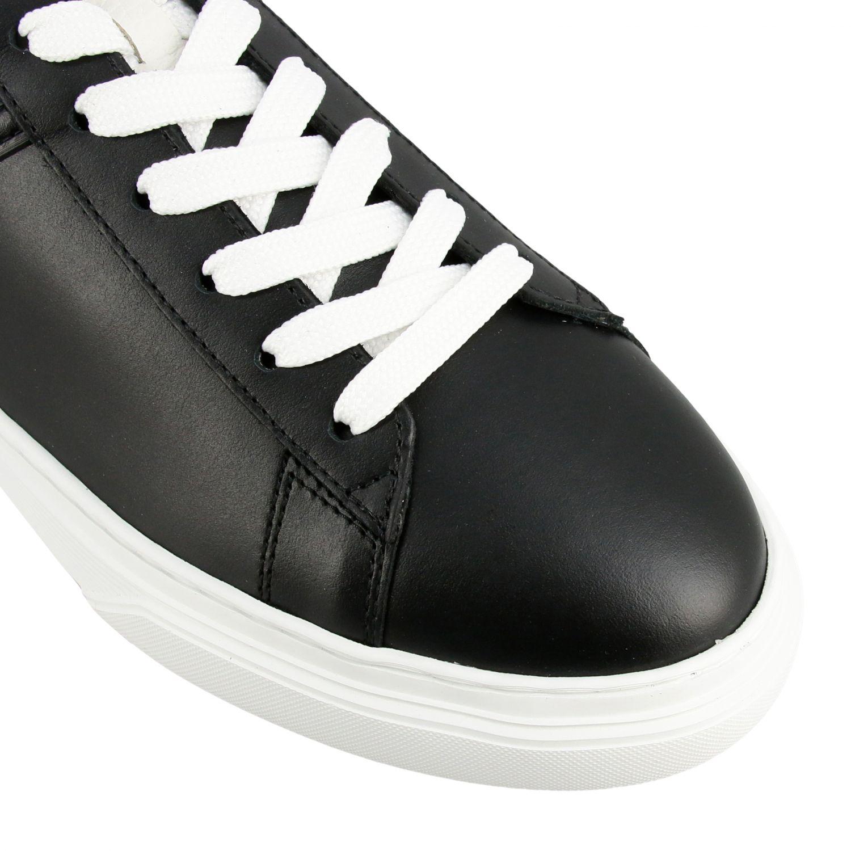 Sneakers 365 Hogan in pelle con big H nero 4