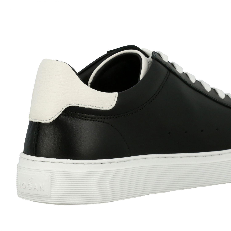Sneakers 365 Hogan in pelle con big H nero 5