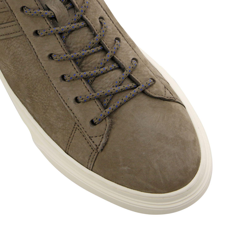 Sneakers 365 Hogan in nabuk con big H beige 4