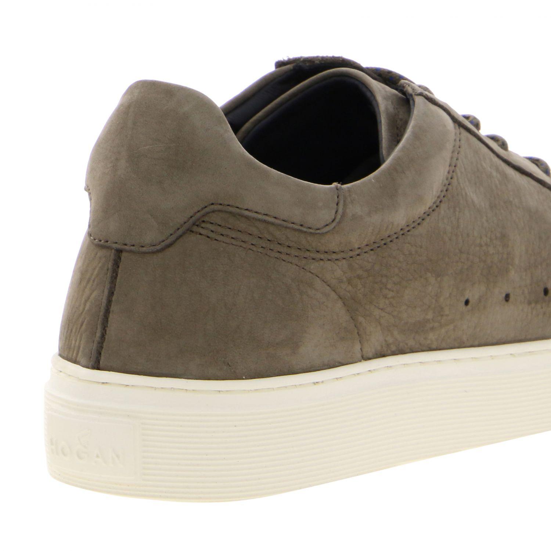 Sneakers 365 Hogan in nabuk con big H beige 5